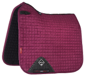 Mulberry, White, Mink, Plum, Black and French rose - Prosport Suede Dressage Square saddle Pads by LeMieux