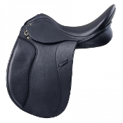 Clean simple lines on this economical black dressage saddle by Ovation. Salinero II Dressage.