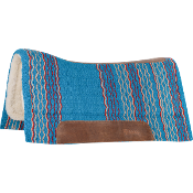 Cashel Blanket Top Performance Western Saddle Pads - Turquoise, Grey with Red, Tan with Orange, Brown with Turquoise and Dark Brown with Rust